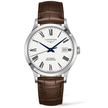 Longines Men's Record Automatic Roman Dial Chronometer Watch