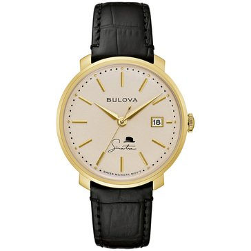 Bulova Men's Frank Sinatra The Best Is Yet To Come Leather Strap Watch