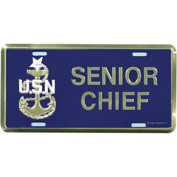 Mitchell Proffitt USN Senior Chief License Plate