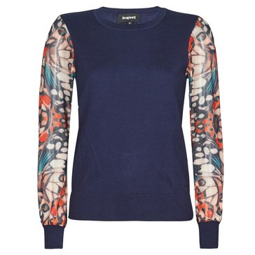 Desigual Women's Print Sleeve Pullover