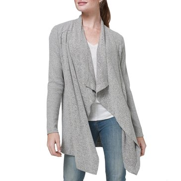 White House Black Market Women's Waterfall Ribbed Cardigan