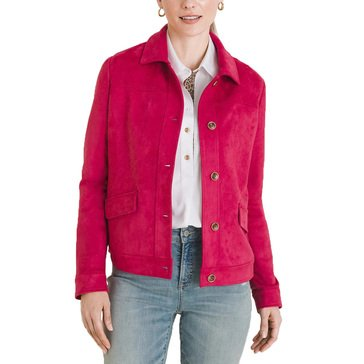 Chico's Women's Faux Suede Jacket