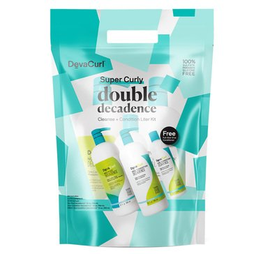Deva Curl Super Curly Double Decadence Cleanse /Condition Liter Kit