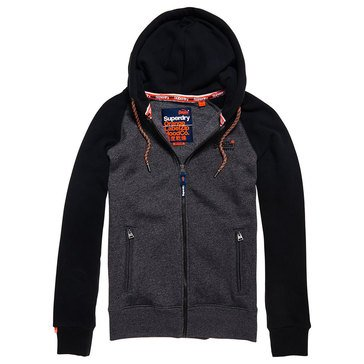 Superdry Men's Orange Label Raglan Full Zip Hoodie