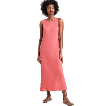 Banana Republic Women's Sl Crew Neck Bias Midi Slip Dress