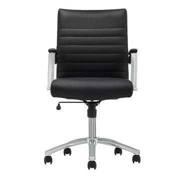 Office Depot Realspace Modern Comfort Series Winsley Bonded Leather Mid-Back Chair