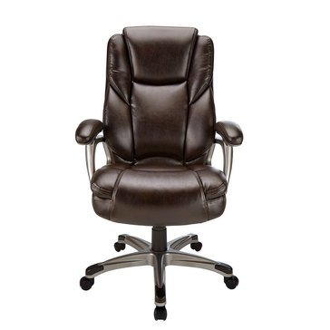 Office Depot Realspace Cressfield Bonded Leather High-Back Chair