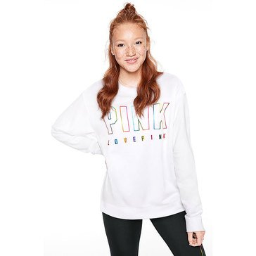 PINK Everyday Lounge Campus Crew Pullover with Foil