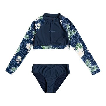 ROXY Big Girls' Long Sleeve Swim Set
