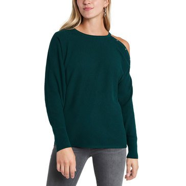 Vince Camuto Women's Cold Shoulder Studded Pullover