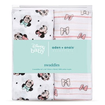 Disney Minnie Rainbows Swaddles 2 Pack