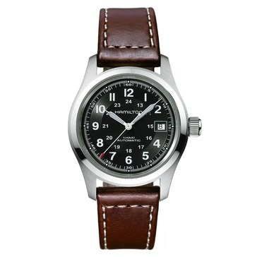 Hamilton Khaki Field Automatic Leather Strap Watch