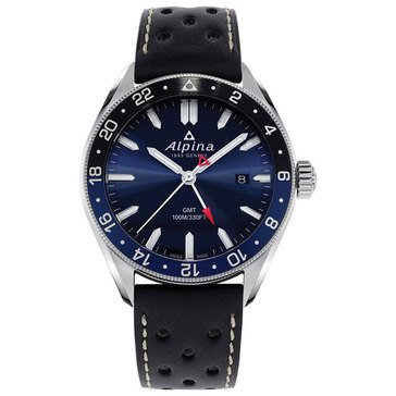Alpina Alpina Men's Alpiner Quartz GMT Dive Leather Strap Watch