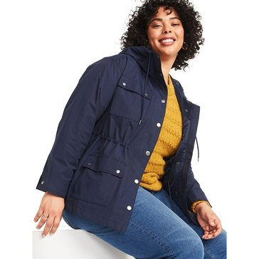 Old Navy Women's Tech Utility Hooded Jacket (Plus Size)