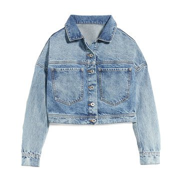 Old Navy Women's Cropped Denim Trucker Jacket