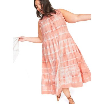 Old Navy Women's Tiedye Tiered Woven Midi Dress (Plus Size)