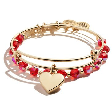 Alex and Ani Heart Set of 2 Bracelets