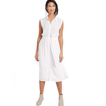 Banana Republic Women's Tie Waist Midi Shirtdress