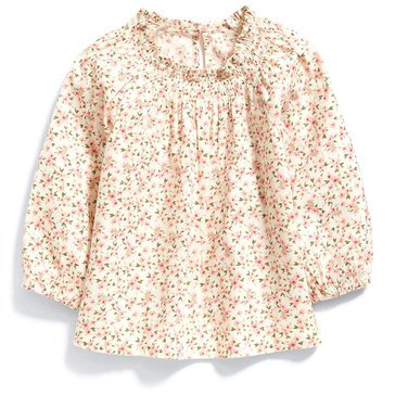 Old Navy Baby Girls' Woven Floral 3/4 Sleeve Top