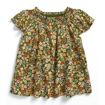 Old Navy Baby Girls' Woven Smocked Neck Top