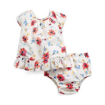 Gap Baby Girls' Floral 2-Piece Diaper Cover Set