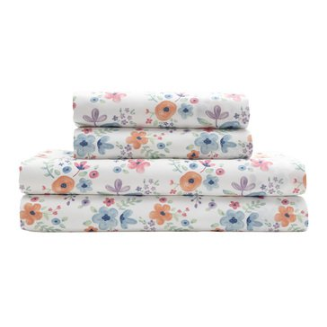 Elite Watercolor Microfiber Sheet Sets Floral