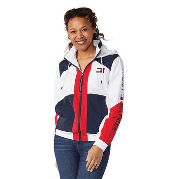 Tommy Hilfiger Womens Colorblock Zip Hoodie