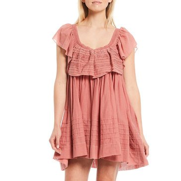Free People Womens Mini Dress