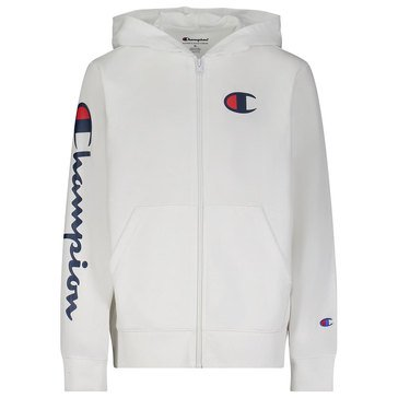 Champion Big Boys' Classic Script Full Zip French Terry Hoodie
