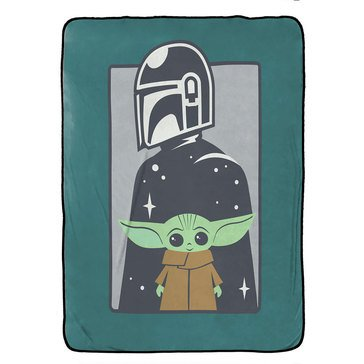 Star Wars Mandalorian Curious Child Blanket