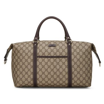 Gucci Brown Coated Canvas Joy Weekender Large