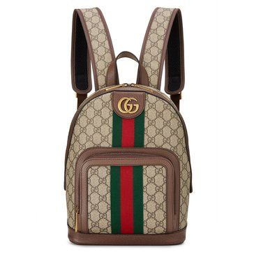 Gucci Brown Coated Ophidiagg Backpack S