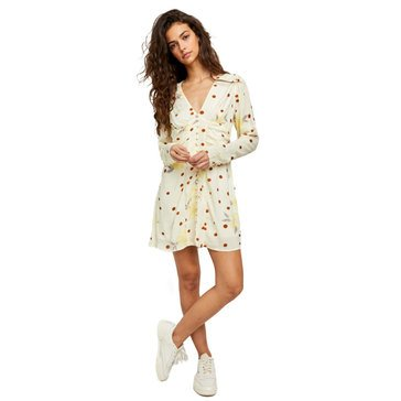 Free People Womens Date Night Mini Dress