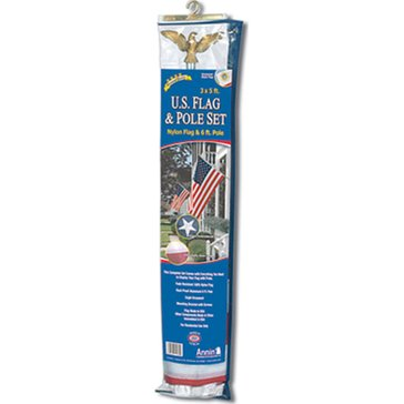 Annin 3'x5' Deluxe Nylon U.S. Flag And Pole Set