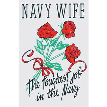 Mitchell Proffitt USN Wife Decal