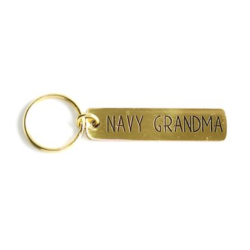 Navy Pride Etched Brass Keychain, Navy G-Ma