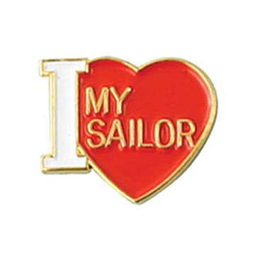 Mitchell Proffitt USN I Love my Sailor Lapel Pin