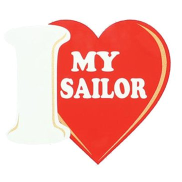 Mitchell Proffitt USN I LOVE MY SAILOR Decal