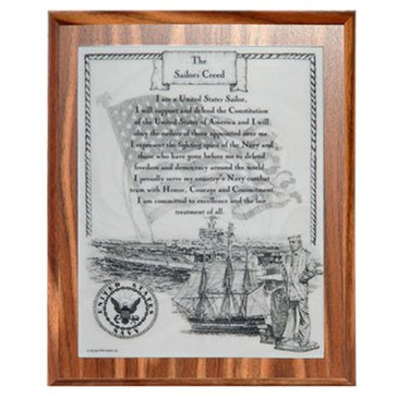 John Wills Studios Inc. USN Definition Of A Sailor Plaque