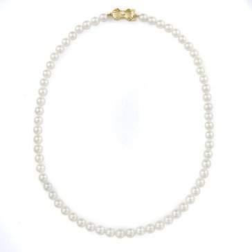 Blue Lagoon By Mikimoto 14K 6.5-7mm Pearl Necklace