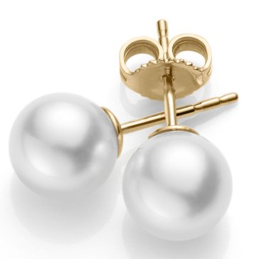 Blue Lagoon By Mikimoto 14K 8-8.5mm Akoya Pearl Stud Earring