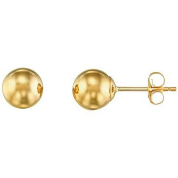 10K 6mm Polished Ball Earring