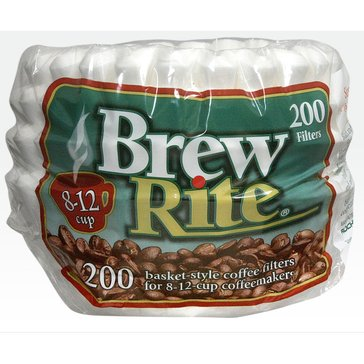 Brew Rite 10/12 Cup Basket Filters, 200 Count