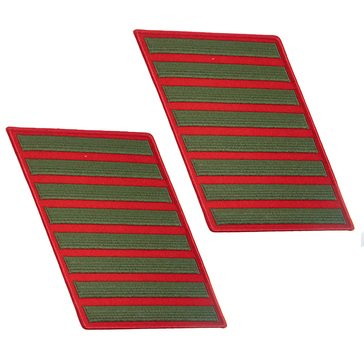 USMC Men's Service Stripe Set-8 Green on Red