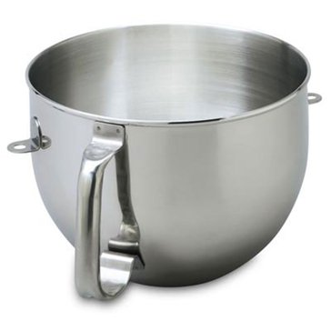 KitchenAid 6-Quart Stainless Steel Mixer Bowl With Handle For Bowl-Lift Stand Mixer (KN2B6PEH)