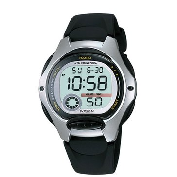 Casio Women's Digital Watch LW200-1A, Silver/ Black 35mm