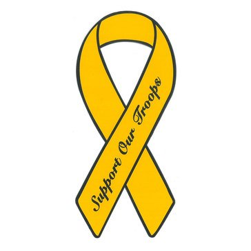 MP YELLOW RIBBON MAGNET