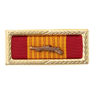 Ribbon Unit with Palm Attachment and Large Frame Army Republic of Vietnam Gallantry Cross Citation