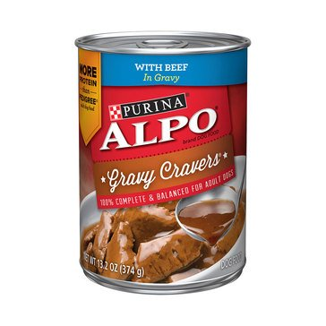Alpo Gravy Cravers Dog Food With Beef 13.2 oz.