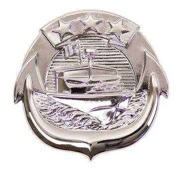 Warfare Badge Full Size SM CRAFT ENL  Mirror Finish Silver